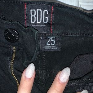Black bdg jeans with knee holes